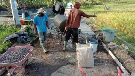 Rabat beton Jl.pakisan-Dam